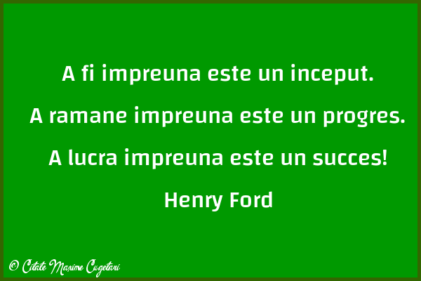 Citate despre Succes - Henry Ford