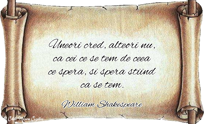 Citate despre Speranta - William Shakespeare