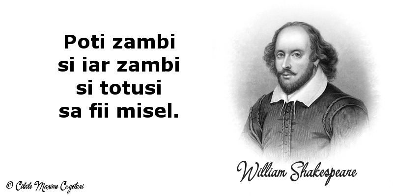 Citate despre Zambet - William Shakespeare