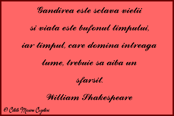 Citate despre Timp - William Shakespeare